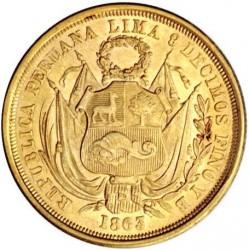 Pièce > 10soles, 1863 - Pérou  - obverse