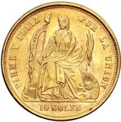 Pièce > 10soles, 1863 - Pérou  - reverse