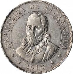 Moeda > 1cordoba, 1912 - Nicarágua  - obverse