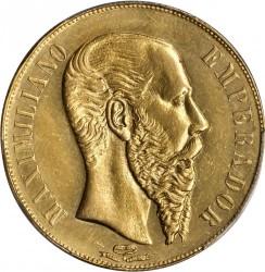 Münze > 20Pesos, 1866 - Mexiko  - obverse