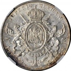 Moeda > 1peso, 1866-1867 - México  - reverse