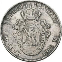 Münze > 50Centavos, 1866 - Mexiko  - reverse