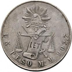 Νόμισμα > 1Πέσο, 1869-1873 - Μεξικό  - reverse
