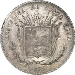 Монета > 50сентаво, 1865-1875 - Коста-Ріка  - obverse
