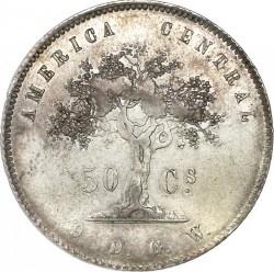 Монета > 50сентаво, 1865-1875 - Коста-Ріка  - reverse