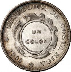 Moneda > 1colón, 1902-1914 - Costa Rica  - reverse