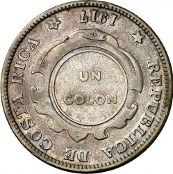Münze > 1Colon, 1917-1918 - Costa Rica  - reverse