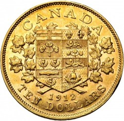Coin > 10dollars, 1912-1914 - Canada  - reverse