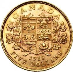 Münze > 5Dollar, 1912-1914 - Kanada   - reverse