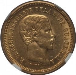 Moneda > 5pesos, 1869 - Guatemala  - obverse
