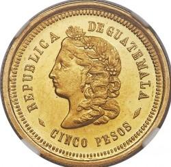 Moneta > 5pesos, 1872-1878 - Guatemala  - reverse