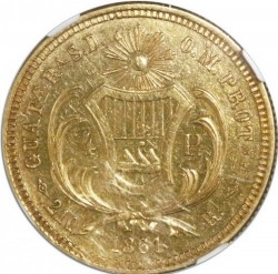 Монета > 4песо, 1861-1862 - Гватемала  - reverse