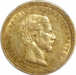 Moneda > 4pesos, 1861-1862 - Guatemala  - obverse