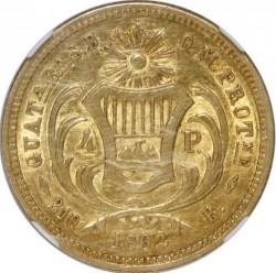 Moneda > 4pesos, 1861-1862 - Guatemala  - reverse