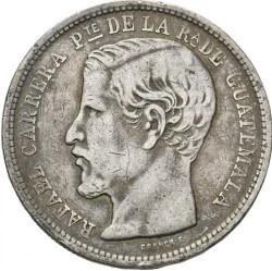 سکه > 1پزو, 1862-1865 - گواتمالا  - obverse