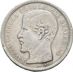 Moneda > 1peso, 1862-1865 - Guatemala  - obverse