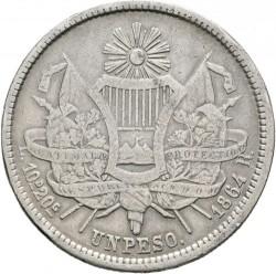 Moneda > 1peso, 1862-1865 - Guatemala  - reverse