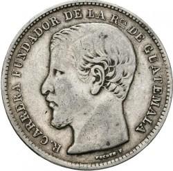 Монета > 1песо, 1866-1869 - Гватемала  - obverse