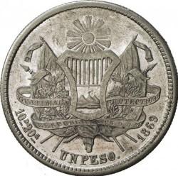 Moneda > 1peso, 1866-1869 - Guatemala  - reverse