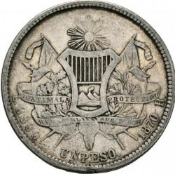 Munt > 1peso, 1869-1871 - Guatemala  - reverse
