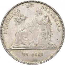 Монета > 1песо, 1878-1879 - Гватемала  - reverse