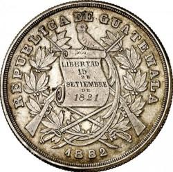 Монета > 1песо, 1882-1889 - Гватемала  - obverse