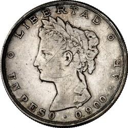 Монета > 1песо, 1882-1889 - Гватемала  - reverse