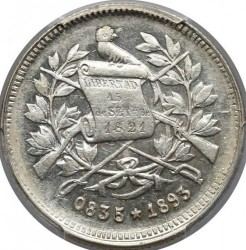 Монета > 25сентаво, 1890-1893 - Гватемала  - obverse