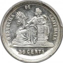 Монета > 25сентаво, 1890-1893 - Гватемала  - reverse