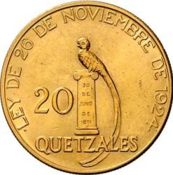 سکه > 20کوتزال, 1926 - گواتمالا  - reverse
