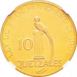 Moneda > 10quetzal, 1926 - Guatemala  - reverse