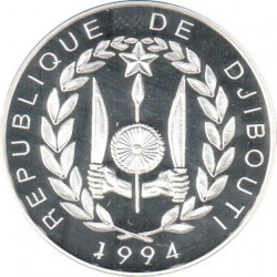 Moneta > 100franchi, 1994 - Gibuti  (1994 World Football Cup USA) - reverse