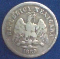 Монета > 10сентавос, 1869-1897 - Мексико  - obverse