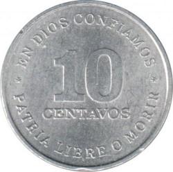 Moeda > 10centavos, 1987 - Nicarágua  - obverse