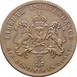 Νόμισμα > 6¼Σεντίμς, 1850 - Αιτή  - reverse