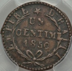 Moneda > 1 céntimo, 1850 - Haití  (AN47 on obverse) - reverse