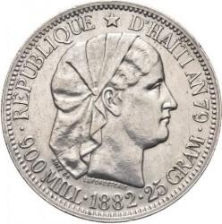 Монета > 1гурд, 1881-1895 - Хаити  - obverse