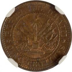 Moneda > 5centimes, 1863 - Haití  - reverse