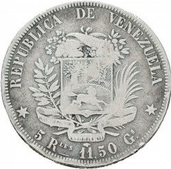 Münze > 5Reales, 1858 - Venezuela  - reverse