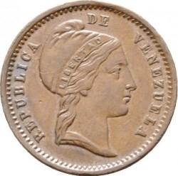 Mynt > ½centavo, 1852 - Venezuela  (Utan myntmärke) - obverse