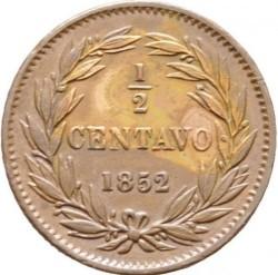 Moneda > ½centavo, 1852 - Venezuela  (Sin marca de ceca) - reverse