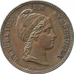 Mynt > ½centavo, 1843-1852 - Venezuela  - obverse