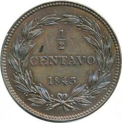 Mynt > ½centavo, 1843-1852 - Venezuela  - reverse