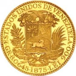 Moneta > 5venezolanos, 1875 - Wenezuela  - obverse