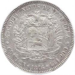 Coin > 1venezolano, 1876 - Venezuela  - reverse