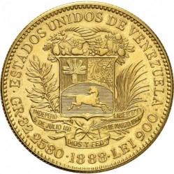Moneta > 100bolivarų, 1886-1889 - Venesuela  - obverse