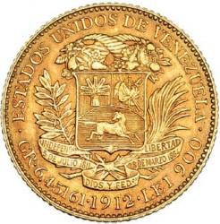 Coin > 20bolívares, 1879-1912 - Venezuela  - obverse
