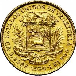 Coin > 10bolívares, 1930 - Venezuela  - obverse