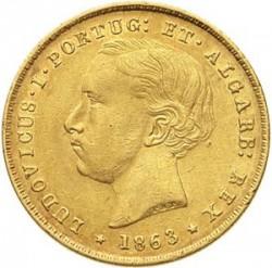 Монета > 5000рейса, 1862-1863 - Португалия  - obverse