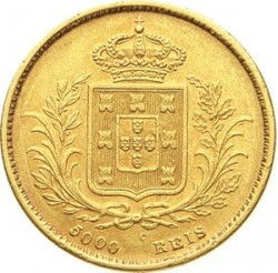 Монета > 5000рейса, 1862-1863 - Португалия  - reverse